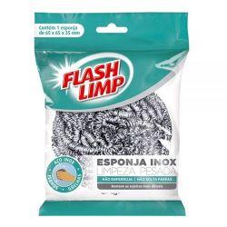 ESPONJA AÇO INOX - LIMPEZA PESADA - FLASHLIMP
